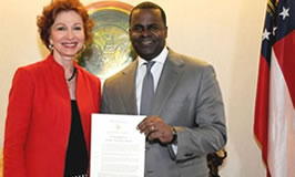 Peggy M. Parks and Mayor Kasim Reed, Civility Proclamation